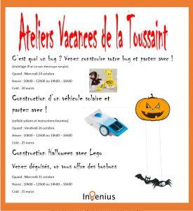 Ateliers Halloween In-Génius